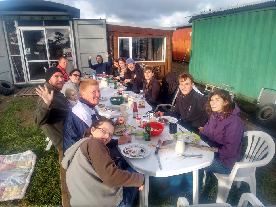 Dinner with conservation volunteers - Pupu Rangi Nature Sanctuary